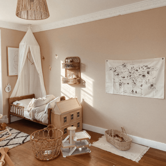 Drewniane łóżeczko dziecięce i niemowlęce Noble Toddler Bed Vintage 140×70 Woodies Safe Dreams