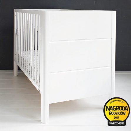 Łóżeczko niemowlęce i dziecięce Smooth Cot - łóżeczka dla niemowląt i dzieci z funkcją tapczanika 120x60 | Woodies® Safe Dreams - meble i materace dla dzieci