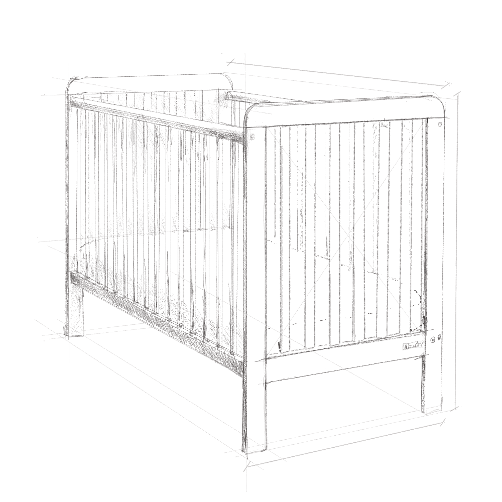 Łóżeczko dziecięce, łóżeczko dla dzieci, łóżeczko niemowlęce, Woodies, wyprawka dla noworodka, wyprawka dla niemowlaka, łóżeczko z opcją szuflady