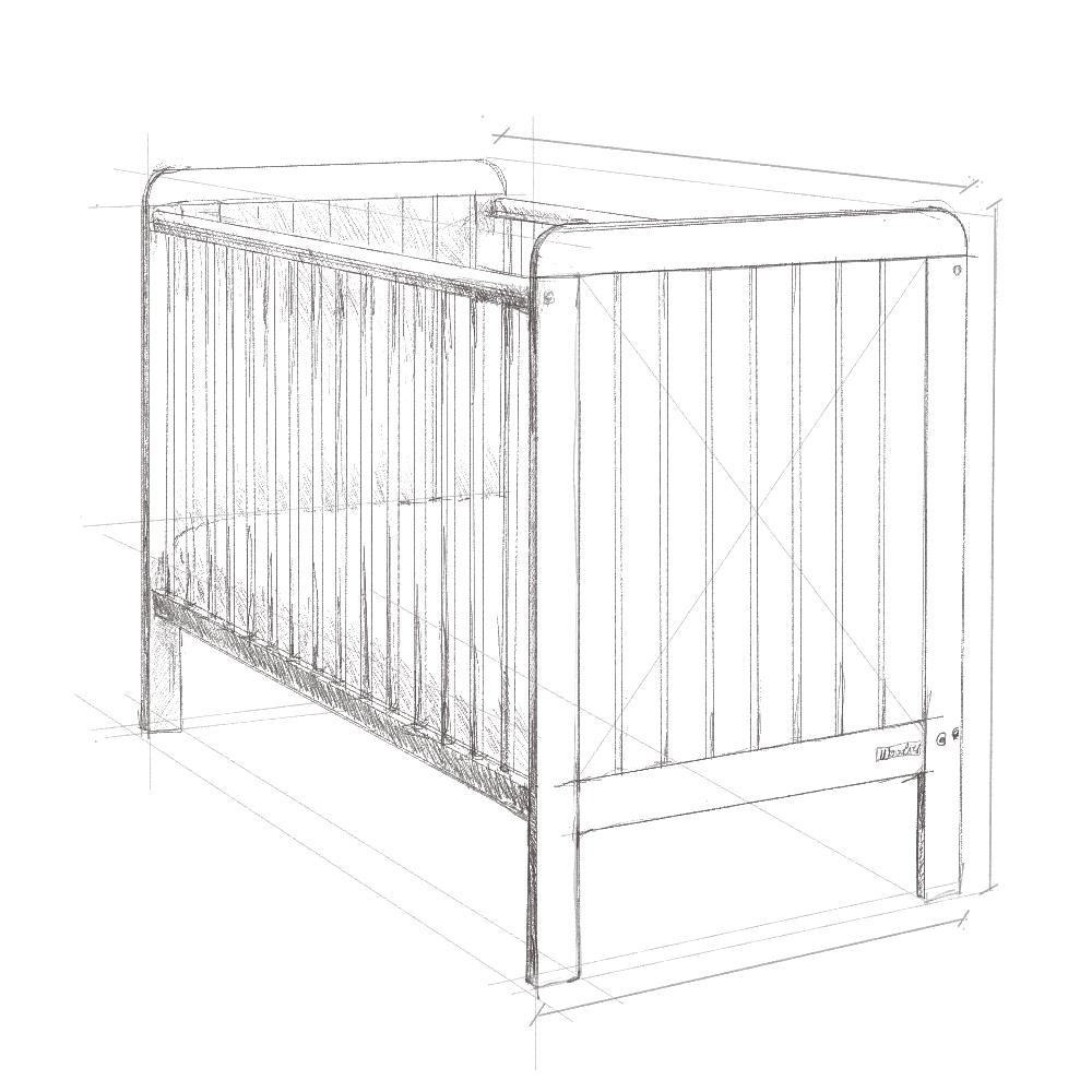 Lozeczko niemowlece 120x60, wyprawka dla niemowlaka, Country Cot Woodies, wyprawka dla noworodka, lozeczko dzieciece, lozeczkod la dziecka