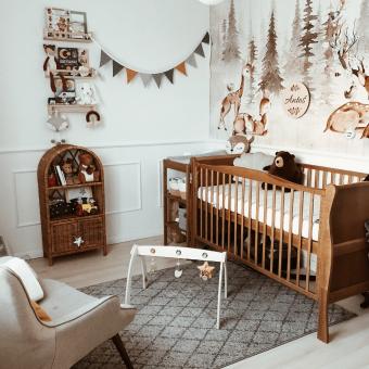 Opinie, drewniane łóżeczko dziecięce i niemowlęce Noble Cot Vintage 140×70 Woodies Safe Dreams