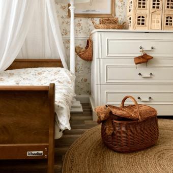 Opinie, certyfikowane i atestowane łóżeczko niemowlęce i dziecięce Noble Toddler Bed Vintage 140×70 Woodies Safe Dreams