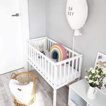 Opinie, atestowane bezpieczne certyfikowane mini łóżeczko dziecięce i niemowlęce Bedside Crib 90×40 Woodies Safe Dreams