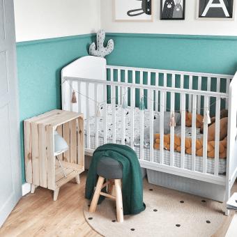 Opinie, atestowane łóżeczko niemowlęce i dziecięce Hampton Cot Bed 140×70 Woodies Safe Dreams