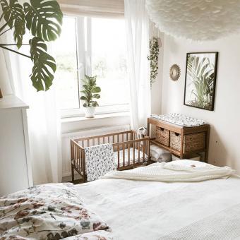 Drewniane mini łóżeczko dostawne Bedside Crib Vintage 90×40 Woodies Safe Dreams
