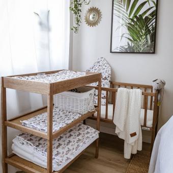 Opinie, brązowe łóżeczko dziecięce i niemowlęce Bedside Crib Vintage 90×40 Woodies Safe Dreams