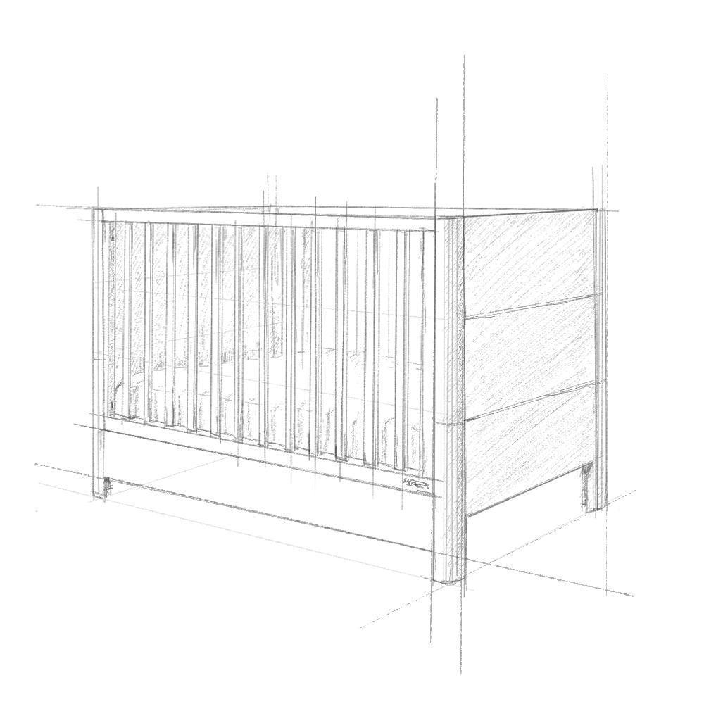 Łóżeczko dziecięce Smooth Cot Bed