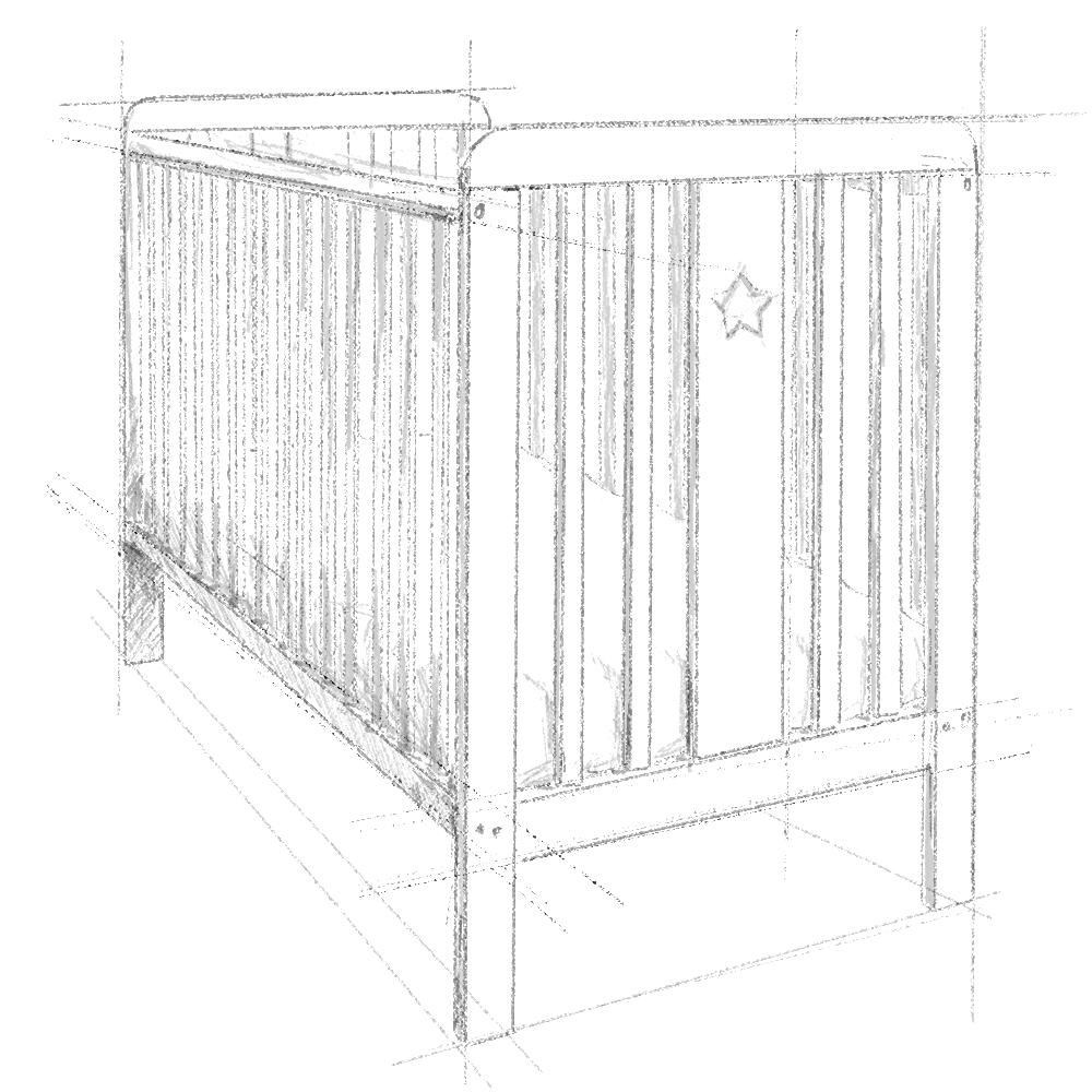 Łóżeczko dziecięce, niemowlęce, dla dzieci, wyprawka dla niemowlaka, wyprawka dla noworodka, Star Cot