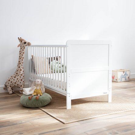 Woodies Classic Cot Bed lozeczko niemowlece i dzieciece wyprawka dla noworodka 2w1 140x70