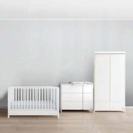 Woodies Smooth Cot Bed 140x70 2w1 lozeczko niemowlece i dzieciece wyprawka dla niemowlaka