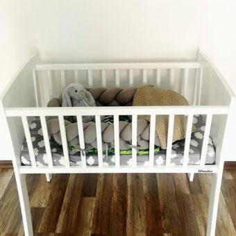 ulinecka Opinie, drewniane mini-łóżeczko Classic Crib Woodies Safe Dreams
