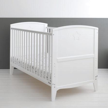 Łóżeczko niemowlęce i dziecięce Starlight Cot Bed - łóżeczka dla niemowląt i dzieci z opcją Junior 140x70 | Woodies® Safe Dreams - meble i materace dla dzieci