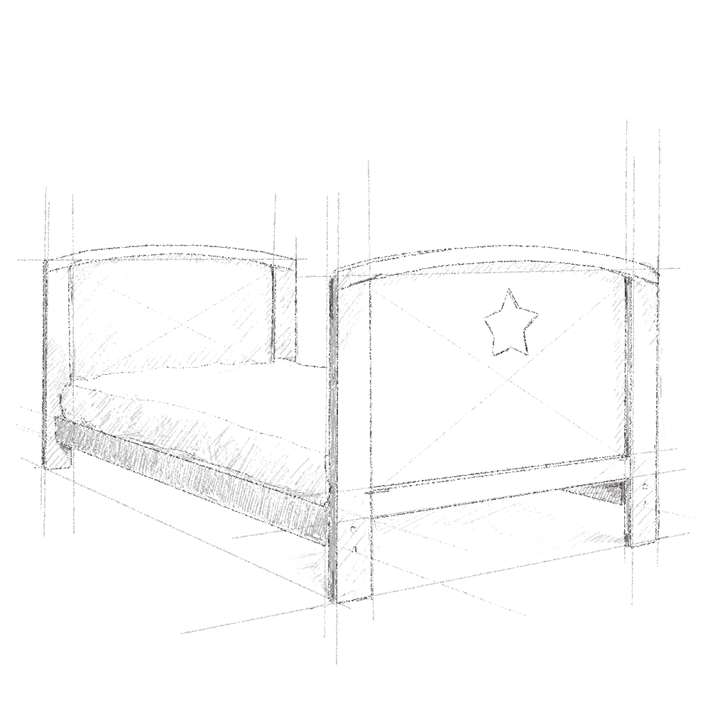 Łóżeczko niemowlęce i dziecięce Starlight Cot Bed, białe - łóżeczka dla niemowląt i dzieci z opcją Junior 140x70 | Woodies® Safe Dreams - meble i materace dla dzieci