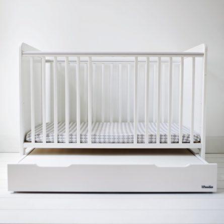 Szuflada z przykryciem do łóżeczka niemowlęcego i dziecięcego 120x60 - szuflady dla niemowląt i dzieci do łóżeczek 120x60 | Woodies® Safe Dreams - meble i materace dla dzieci