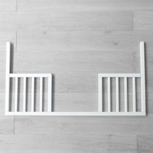 Bok otwarty DayBed do łóżeczka dla niemowląt i dzieci 120x60 - łóżeczka dla niemowląt i dzieci z funkcją tapczanika 120x60 | Woodies® Safe Dreams - meble i materace dla dzieci