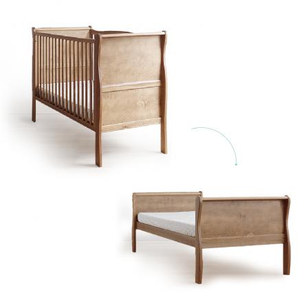 Lozeczko dzieciece i niemowlece Woodies Safe Dreams Nobel Cot Bed 140x70 vintage 2w1 wyprawka dla noworodka meble dla dzieci