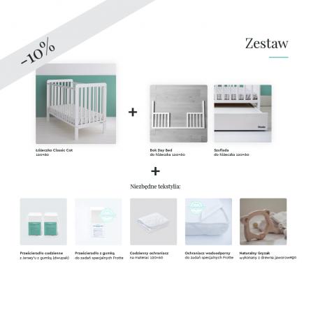 Wyprawka dla niemowlak, wyprawka dla noworodka, łóżeczko 120x60 z szufladą