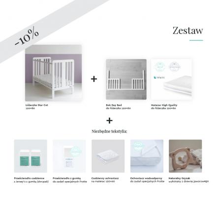 Wyprawka dla noworodka, wyprawka dla niemowlaka, łóżeczko 120x60 z materacem, łóżeczko z gwiazdką, bajkowe