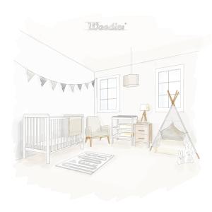 Łóżeczko niemowlęce i dziecięce w stylu skandynawskim - łóżeczka dla niemowląt i dzieci w stylu skandynawskim | Woodies® Safe Dreams - meble i materace dla dzieci