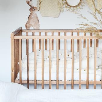 Opinie, drewniane atestowane łóżeczko niemowlęce i dziecięce Stardust Cot 120×60 Craft Vintage Woodies Safe Dreams