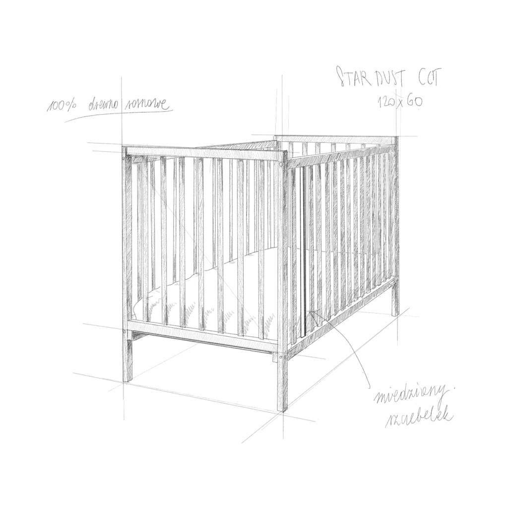 lozeczko niemowlece i dzieciece_szkic_star_dust_woodies_PL