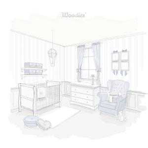 Łóżeczko niemowlęce i dziecięce w stylu francuskim - łóżeczka dla niemowląt i dzieci w stylu francuskim Rozenek | Woodies® Safe Dreams - meble i materace dla dzieci