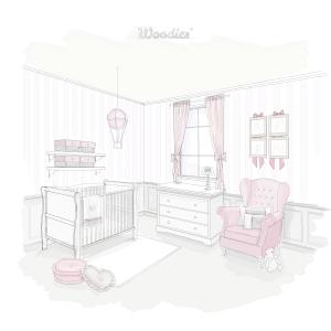 Łóżeczko niemowlęce i dziecięce w stylu francuskim - łóżeczka dla niemowląt i dzieci w stylu francuskim Rozenek| Woodies® Safe Dreams - meble i materace dla dzieci