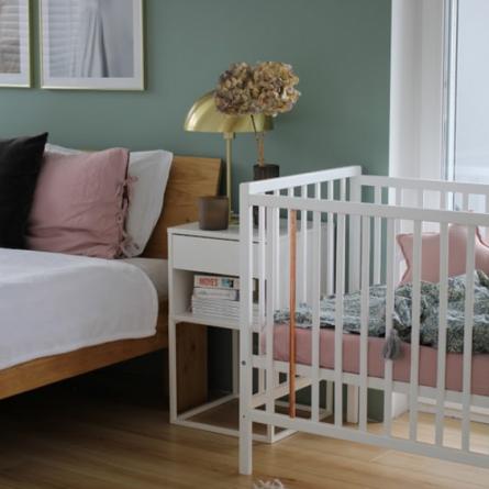 łóżeczko dziecięce i niemowlęce Stardust Cot 120x60 Craft Woodies Safe Dreams łóżeczka i meble dla dzieci
