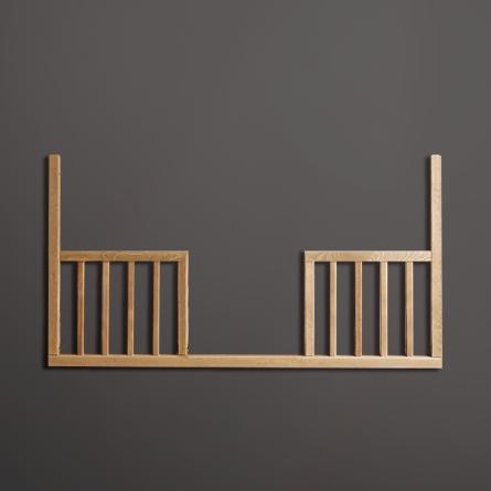 Dodatkowy bok otwarty daybed do łóżeczka 120 x 60 vintage niemowlęcego, Woodies