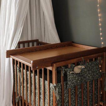 Opinie, atestowany przewijak nakładany na łóżeczko Cot Top Changer Vintage Woodies Safe Dreams