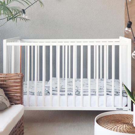 Łóżeczko niemowlęce i dziecięce, nowoczesne, glamur, mietalowe elemanty, Woodies 120x60