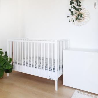 Opinie, atestowane łóżeczko dziecięce i niemowlęce Stardust Cot 120×60 Craft Woodies® Safe Dreams