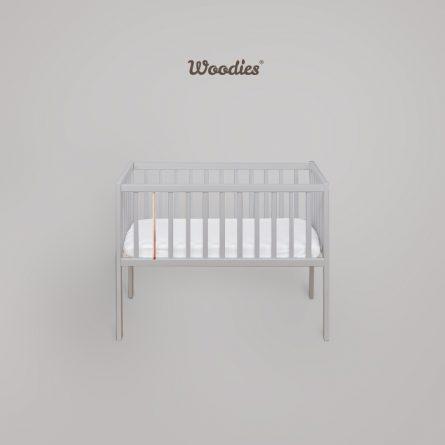 Bedside-Crib-Craft_szary_miedz-Maffashion-pokoik-lozeczko-dla-dziecka-Woodies, małe lozeczka turystyczne 90x40