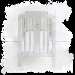 Opinie atestowane łóżeczko dziecięce i niemowlęce Star Cot szare Woodies®