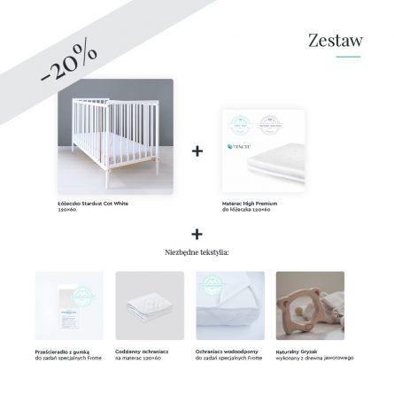 Łóżeczko niemowlęce i dziecięce Stardust Cot 120x60 Craft białe - łóżeczka dla niemowląt i dzieci 120x60 w stylu klasycznym   Woodies® Safe Dreams - meble i materace dla dzieci