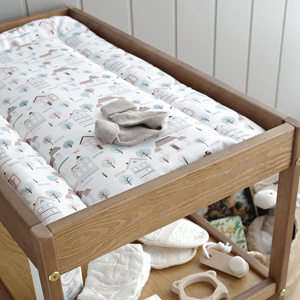 Przewijak wyprawka dla niemowlaka wyprawka dla noworodka pokoj dla chlopca pokoj dla dziewczynki Woodies Safe Dreams meble dla dzieci seria vitage