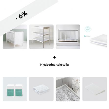 Drewniane łóżeczko dziecięce i niemowlęce Classic Cot 120x60 wyprawka dla noworodka Woodies Safe Dreams1