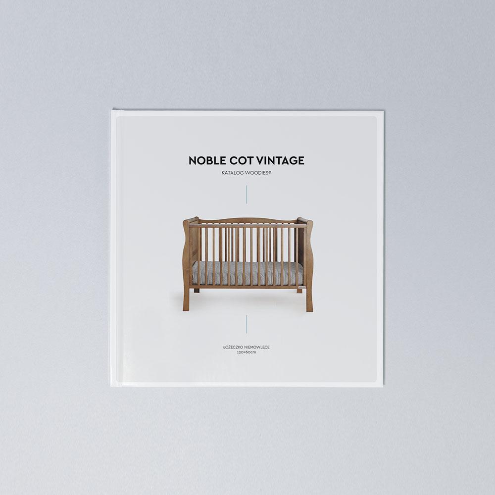 Drewniane łóżeczko dziecięce i niemowlęce Noble Cot Vintage 120x60 Woodies Safe Dreams drewniane meble dla dzieci wyprawka dla noworodka